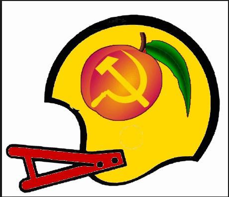 Peach Maoists Second New Football Helmet